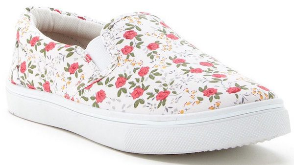 Modern Rebel Pink Flower Sneaker Just $15.25 (Reg $60)!