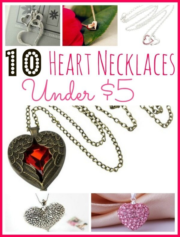 10 Heart Necklaces Under $5