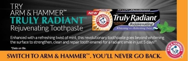 FREE Sample Arm & Hammer Truly Radiant Rejuvenating Toothpaste!