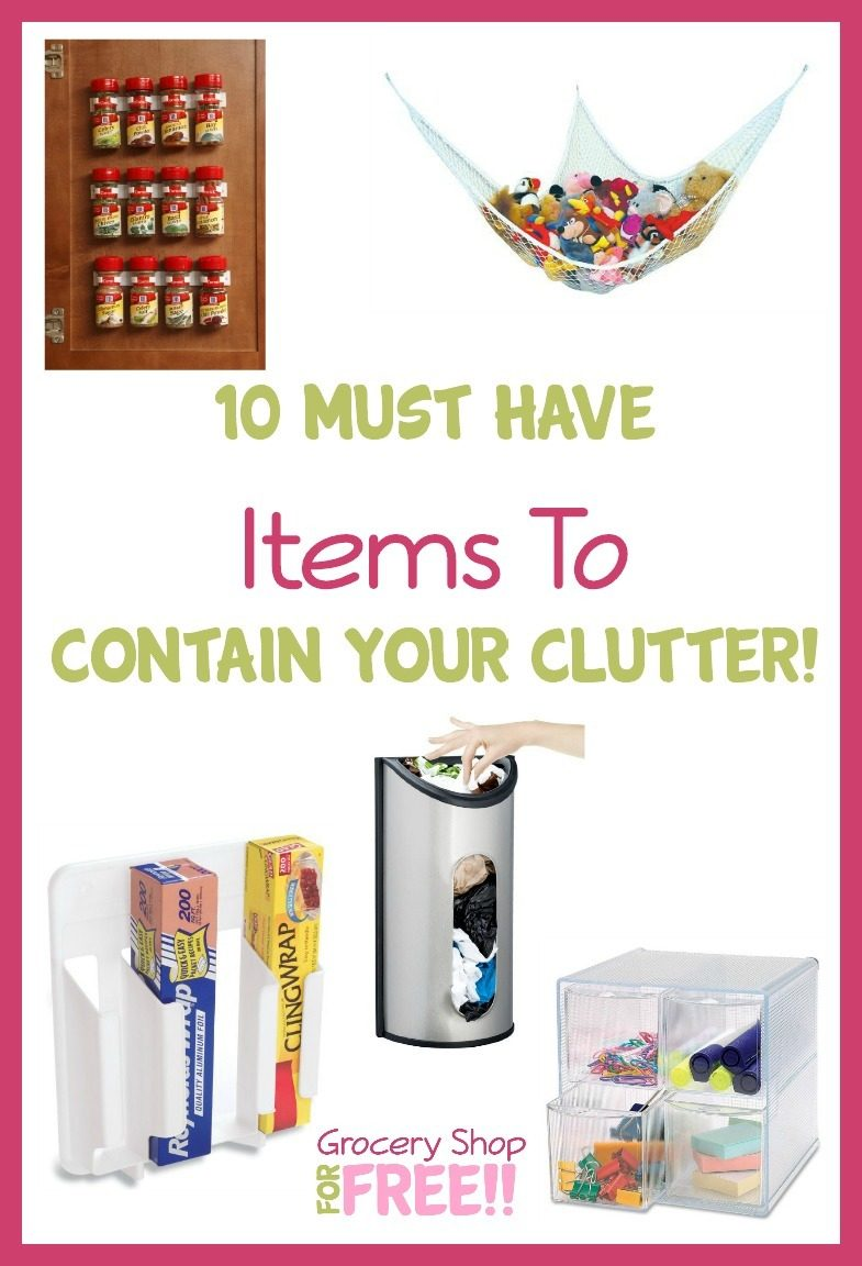 Clutter is the bane of my existence! There is never enough space. And you need extra storage that works right for you!  Check out this list of 10 Must Have Items To Contain Your Clutter!