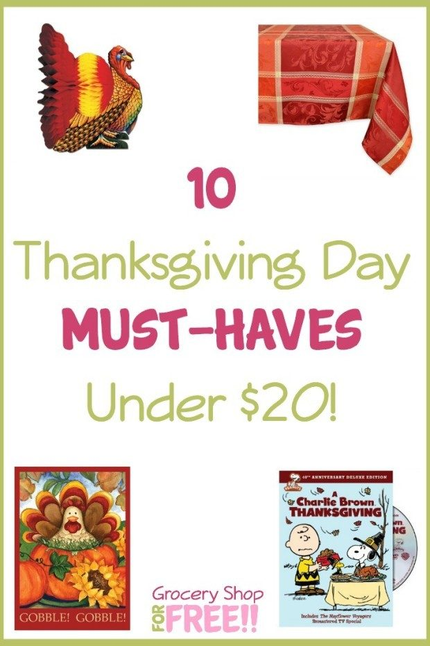 10 Thanksgiving Day Must Haves Under $20!