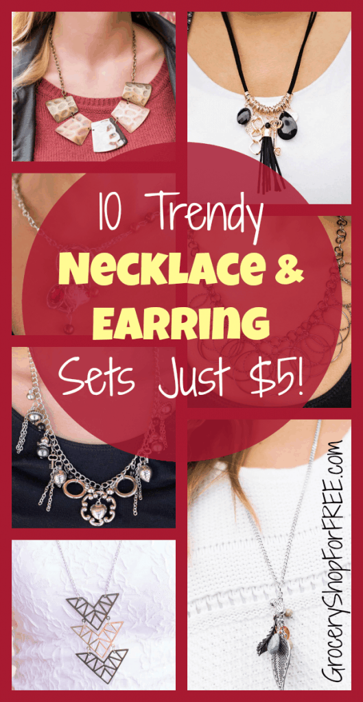 10 Trendy Necklace & Earring Sets Just $5