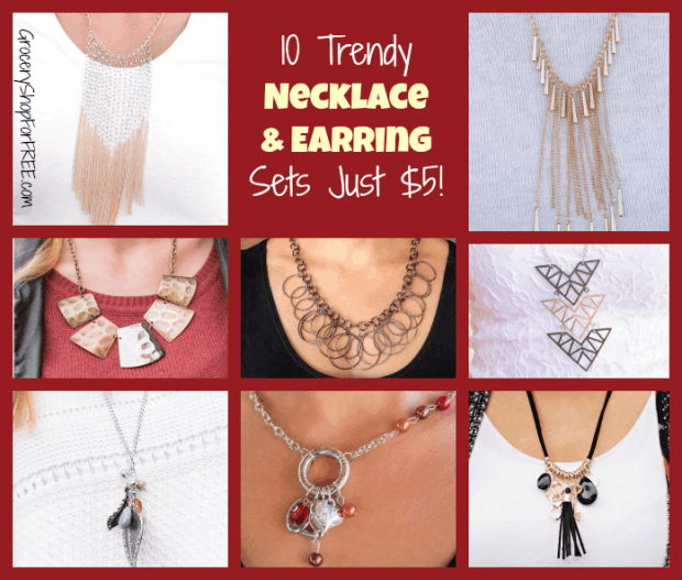 10 Trendy Necklace & Earring Sets Just $5 FB
