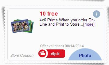 10 free 4x6 prints at meijer