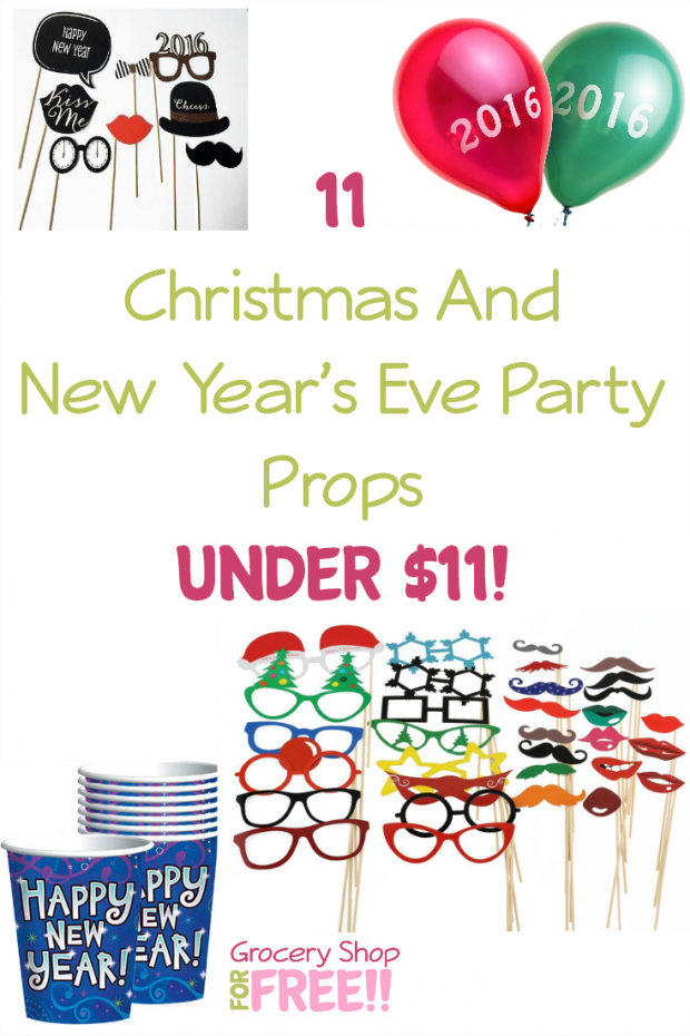11 Christmas & New Year's Eve Party Props Under $11