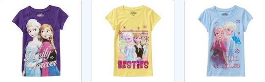 Girls Frozen Tees Just $4.50 At Walmart!