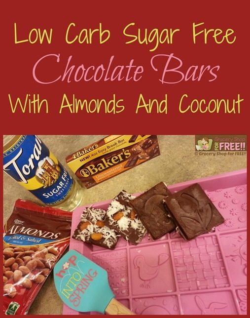 Low Carb Sugar Free Chocolate Bars!