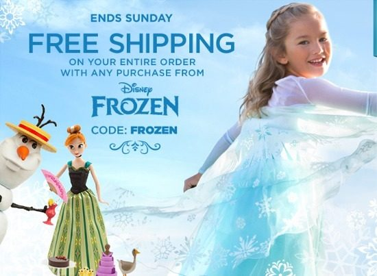 FREE Shipping on ALL Disney Frozen Toys, Clothes + More!