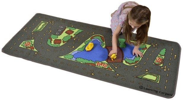 "Learning Carpets Drive Around The Park, 27"" x 60"" Just $13.81!  Down from $29.99!"