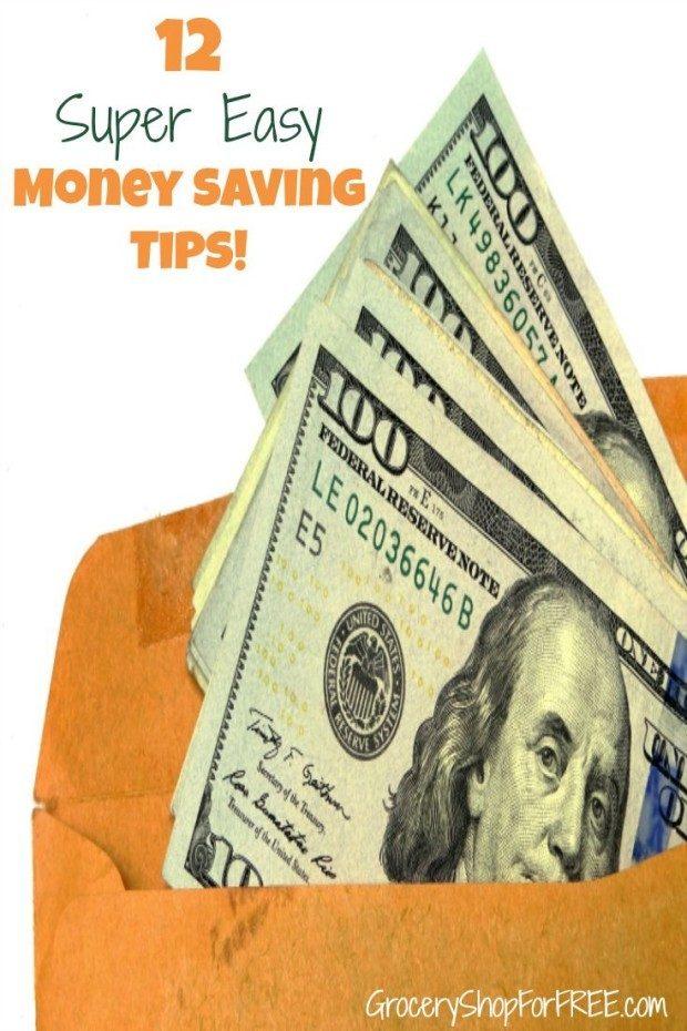 12 Super Easy Ways To Save Money!