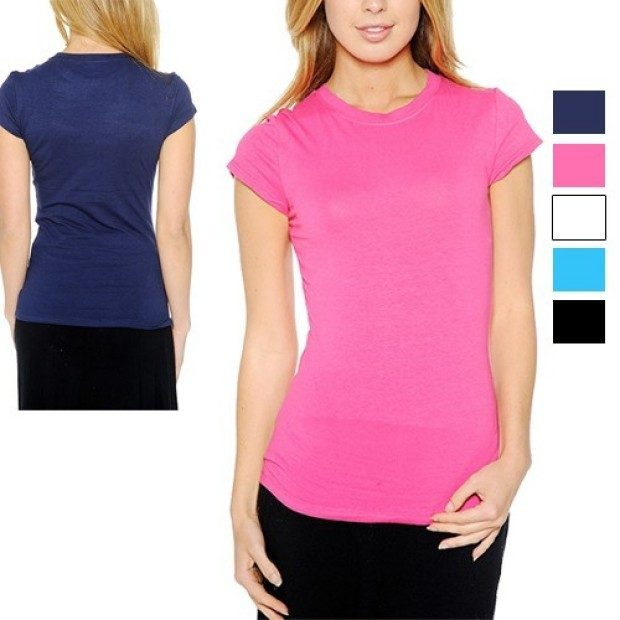 5 Pack: Grip Ladies' Crew-Neck Cotton T-Shirts Just $18.99 PLUS FREE Shipping!