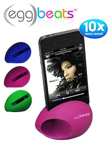 2 Pack Egg Beats Speaker Dock For iPhone 4&5 Only $9 Shipped!