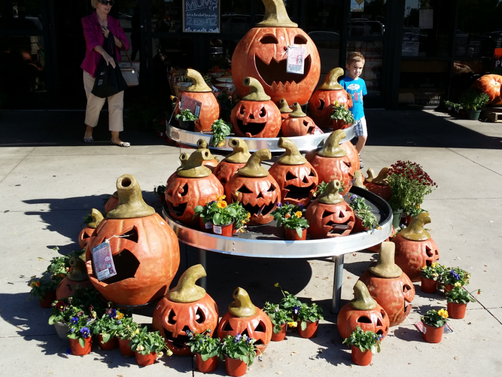 Market Street Pumpkin Display