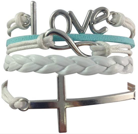 Love - Infinity - Cross Stacked Bracelet Only $1.54 + FREE Shipping!