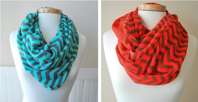 Chevron Infinity Scarves Only $4.99!