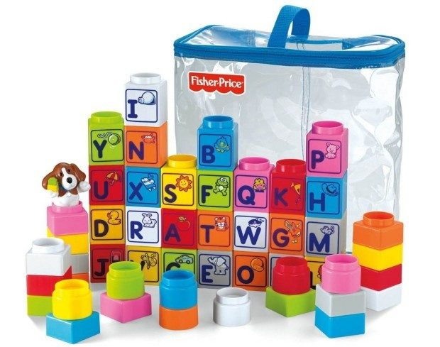 Fisher-Price Little People Builders Stack 'n Learn Alphabet Blocks Just $9.99!  Down from $24.99!