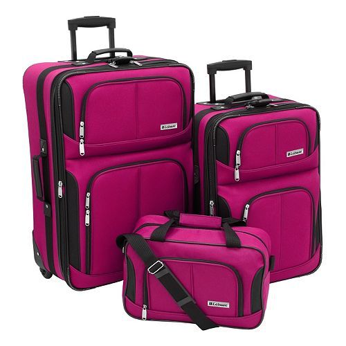 Leisure Trio 3-pc. Luggage Set Only $40.99! Down From $199.99!