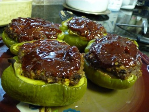 Meatloaf Bell Pepper Boats!
