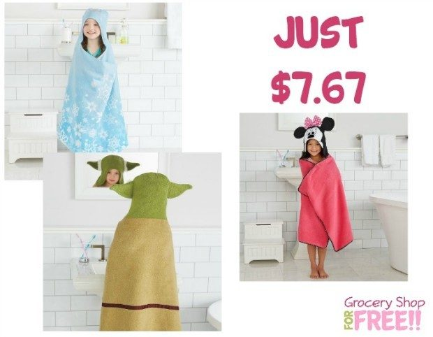 Kid's Hooded Character Towels Just $7.67!  Down From $35!