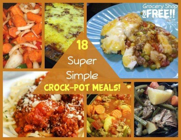 18 Super Simple Crock-Pot Meals!