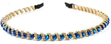 Blue Rhinestone Headband Just $3.19 + FREE Shipping!