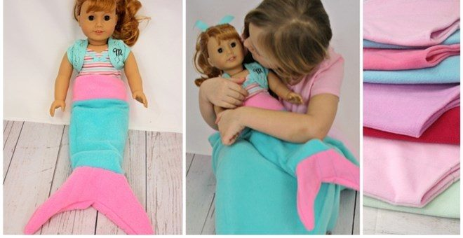 "18"" Doll Mermaid Tail Sack/Blanket Only $6.99! Down From Up To $18.99!"