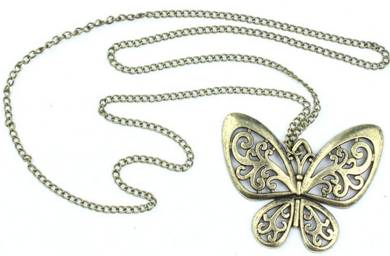 Retro Bronze Butterfly Necklace Only $2.61 + FREE Shipping!