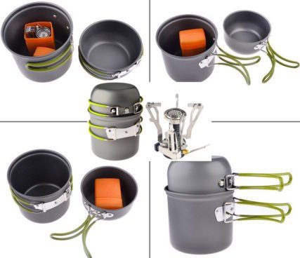 Outdoor Camping Stove Cookware Set Only $17.99 (Was $40)