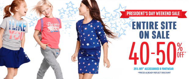 The Children's Place 40% - 50% Off Sitewide!
