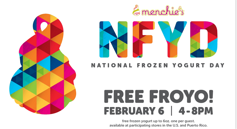 FREE Frozen Yogurt at Menchie's