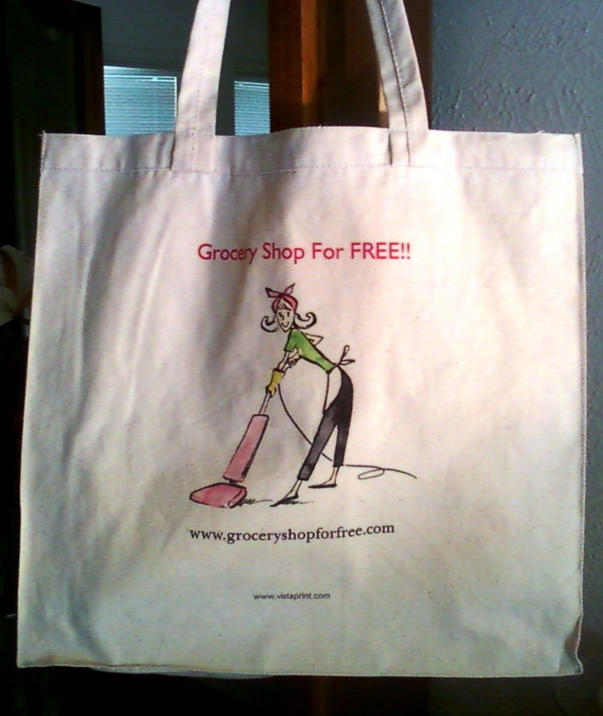 Grocery Shop For FREE!! Canvas Bag