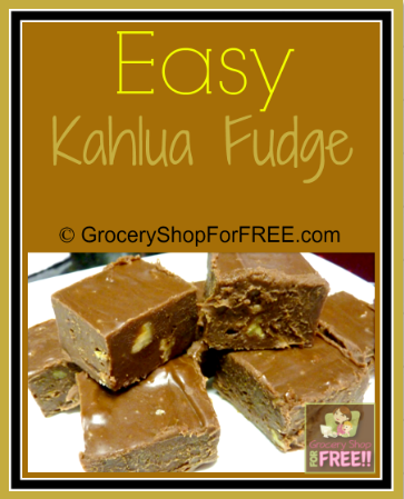 Butter, Chocolate, Fudge?  What else do you need?!  This Easy Buttery Kahlua Fudge will become one your favorites the first time you try it!  Click through NOW to check it out...