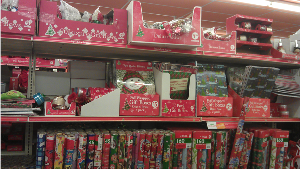 then i wondered past the gift wrapping - Family Dollar Christmas Decorations