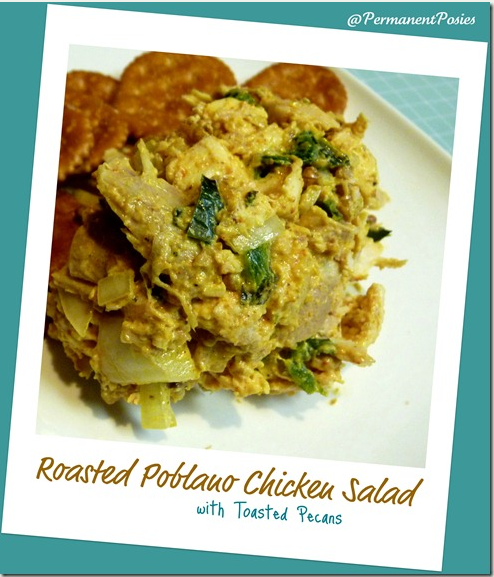 Roasted Poblano Pepper Chicken Salad!