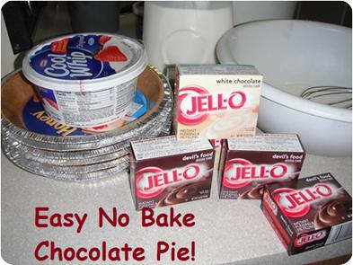 Easy No Bake Chocolate Pie Recipe
