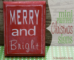 DIY Mini Christmas Signs!