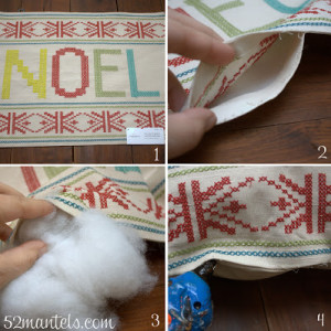 Making A Merry Christmas: No Sew Pillow!