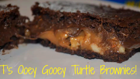 Ooey Gooey Turtle Brownies