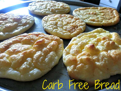 If you're looking for a way to kick the carbs but still want bread, this is for you.  This carb free bread is quick and easy with only 3 ingredients.