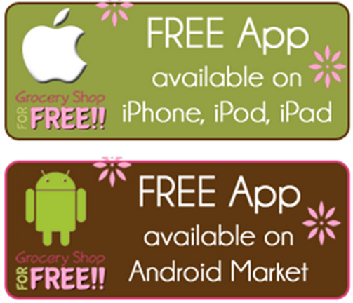 Grocery Shop For FREE iPhone & Android Apps