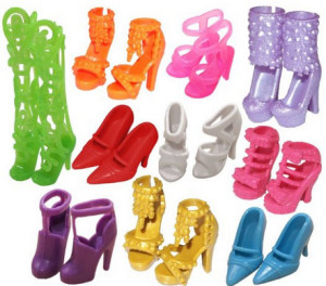 Amazon: 10 Barbie Shoes for $5.95 SHIPPED!