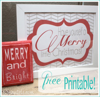 FREE Printable Quick & Easy Holiday Craft!