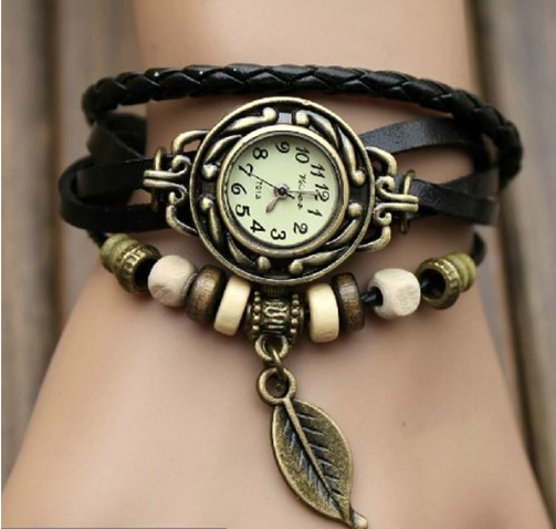 Leather Wrap Around Ladies Bracelet Watch Just $2.98 PLUS FREE Shipping!