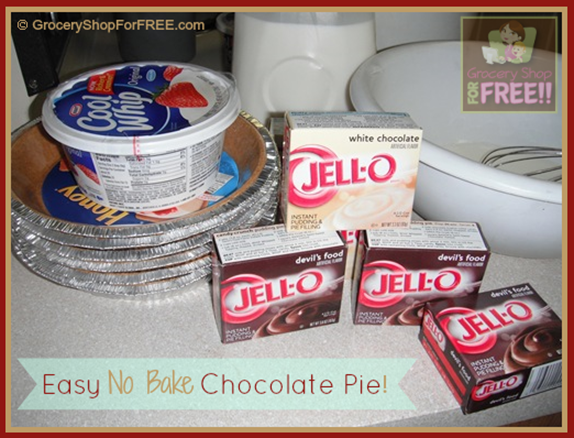 Easy No Bake Chocolate Pie!  This yummy pie is a favorite of everyone who tries it!