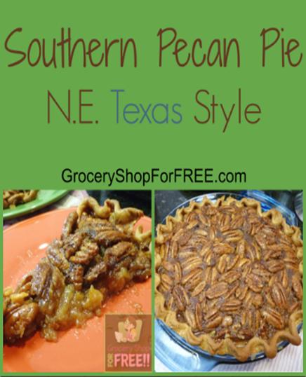 Southern Pecan Pie N.E. Texas Style