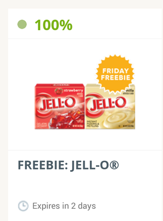 SavingStar Friday FREEbie FREE Jell-O!