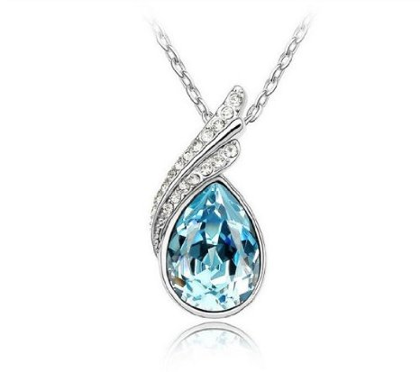 Crystal Angel Teardrop Pendant Only $1.69 SHIPPED!