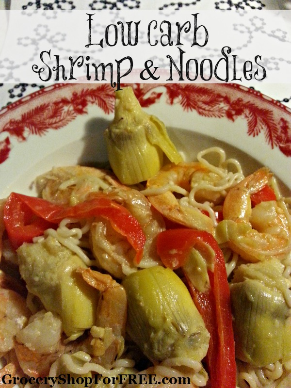 Low Carb Shrimp & Noodles!