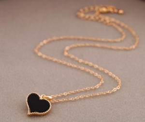 Gold Heart Shaped Necklace Just $0.99 SHIPPED!