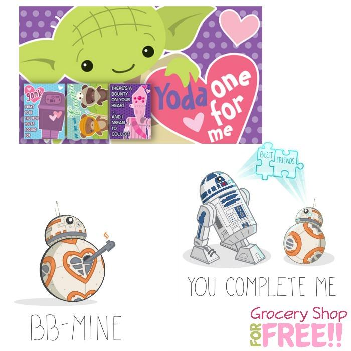 FREE Printable Star Wars Valentine's Day Cards!